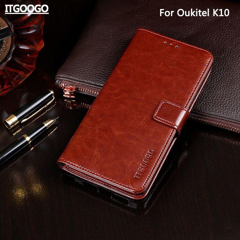 Cas Pour Oukitel K10 Couverture de Cas de Haute Qualité Flip Étui En Cuir Pour Oukitel K10 Couverture Capa Téléphone sac Portefeuille Cas