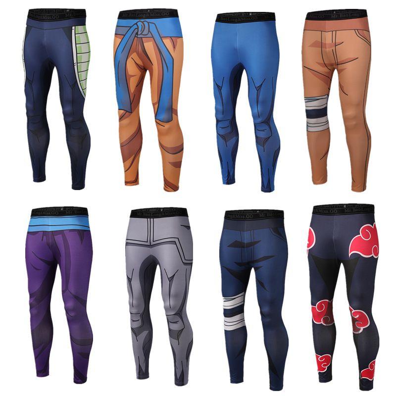 Marque vêtements 2019 nouvelle arrivée hommes pantalon impression 3D Dragon Ball Z Naruto Skinny Leggings pantalon de mode collants pantalons de survêtement M-3XL