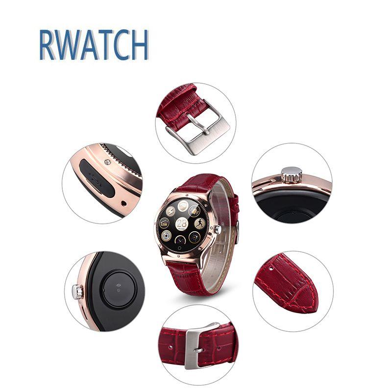 Леди Смарт-часы rwatch R11S Android IOS Remote Capture шагомер сидячий Компасы вызова/SMS напоминание Кристалл сердечного ритма Мониторы