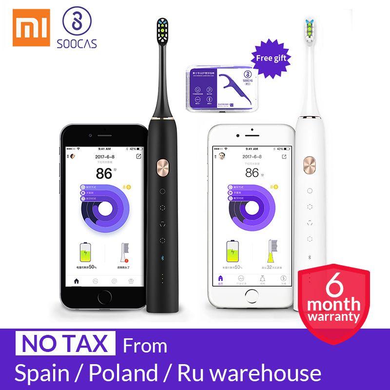 Xiaomi mijia Soocas X3 brosse à dents électrique sonique USB Rechargeable Mis À Jour adulte ultrasons imperméables brosse à dents automatique