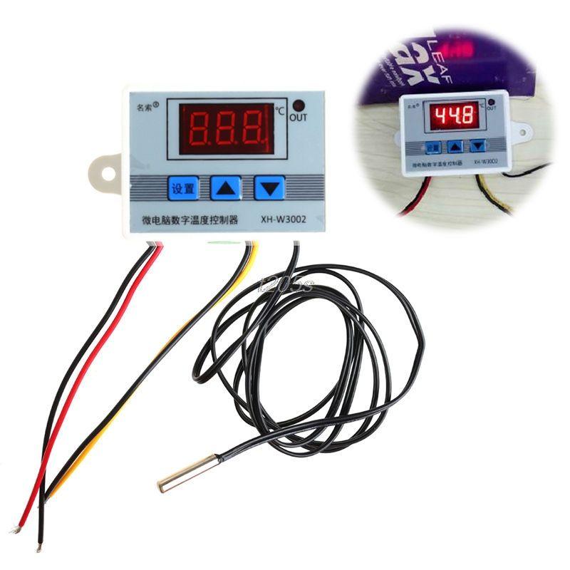 220V 12V 24V Digital LED Temperature Controller Thermostat Switch Probe Sens T18 Drop ship