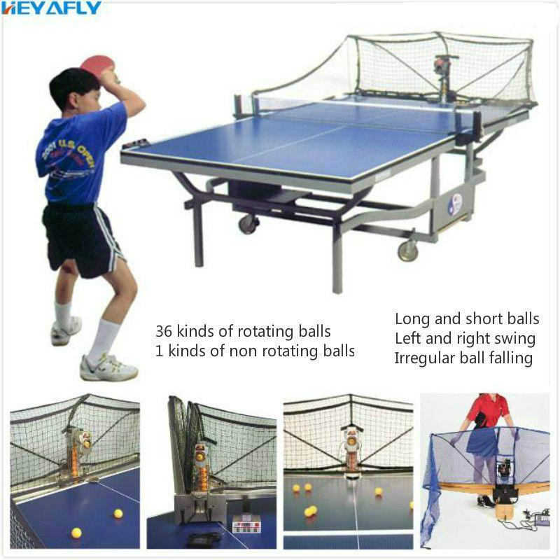 Tischtennis Dienen Maschine Automatische Sammlung Ball Sammlung Netzwerk Neueste Modell Volle Funktion Pitching Portion Maschine