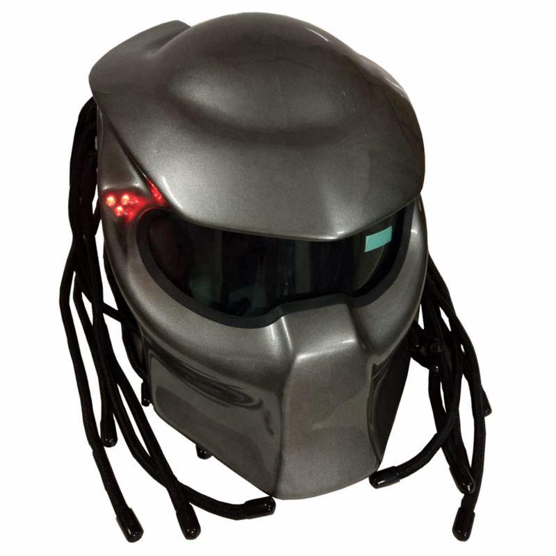Masei 2017 New Bright Grey / Matte Grey Predators mask helmet Fiberglass Iron Man motorcycle helmet Full face DOT M-XXL