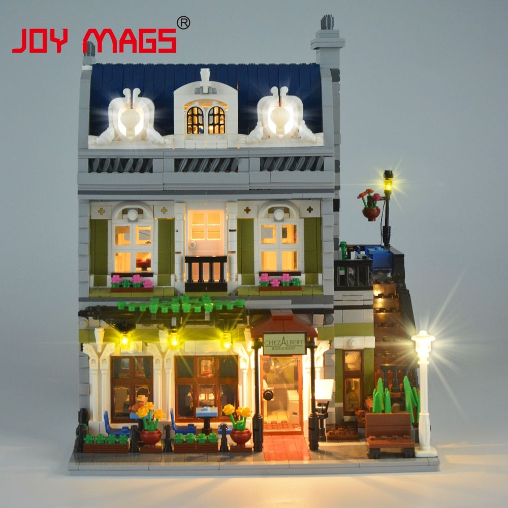 JOY MAGS Only Led Light Kit For Creator 10243 Parisian <font><b>Restaurant</b></font> Lighting Set Compatible With Lego (NOT Include The Model)