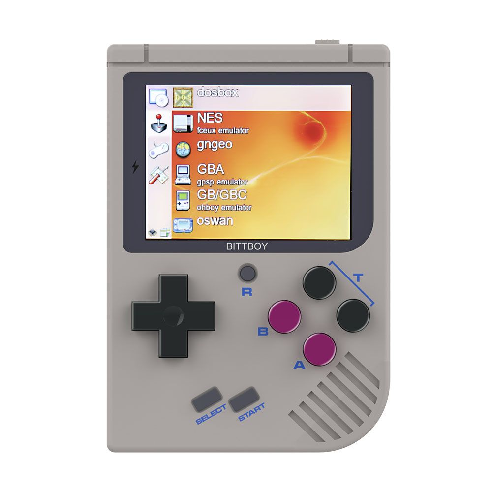 Video Game Console New BittBoy - Version3.5 - Retro Game Handheld Games Console Player Progress Save/Load MicroSD card External