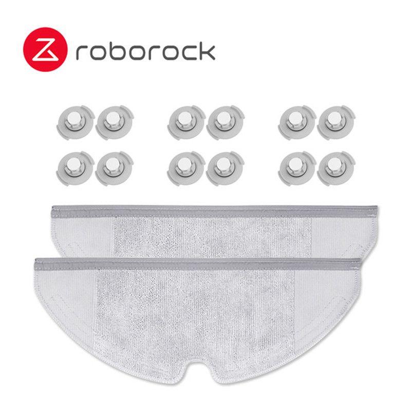 Xiaomi Original Roborock S50 S51 Roboter Staubsauger 2 Ersatzteile Kits Mop Tücher Trocken Nass Wischen * 2 Wasser tank filter * 12