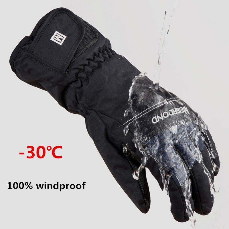 2016 neue HEIßE-30 grad unisex warme snowboardhandschuhe für winter männer schnee winddicht guante nieve ski handschuhe 528TT