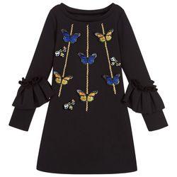 Remaja Gadis Musim Semi Musim Gugur Lengan Panjang Kupu-kupu Lebah Elegan Gaun Anak Pakaian Bayi Anak-anak Air Kapas Putri Gaun Pesta