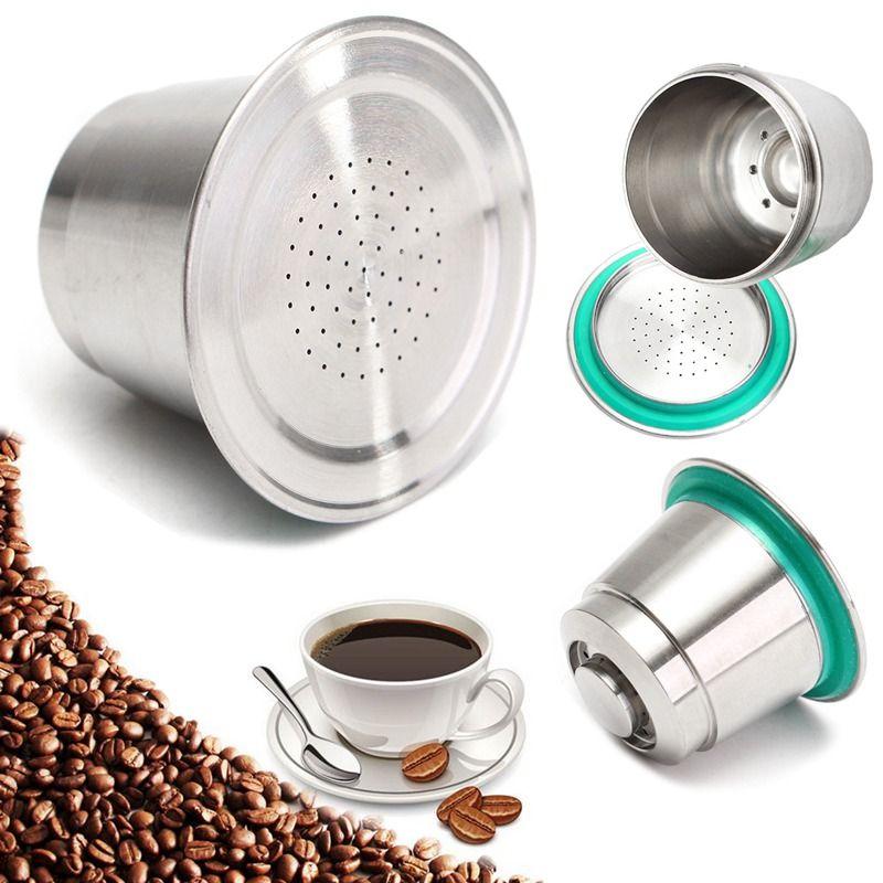 Kaffee Kapsel Tasse Edelstahl Feine Mahlung Wiederverwendbare Nachfüllbar Für Nespresso Nachfüllbare Leicht Zu Reinigen