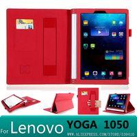 Роскошный кожаный чехол для Lenovo YOGA tablet 2 10 1050 1050f 1051L 10,1 1051 планшеты + защита экрана стилусы