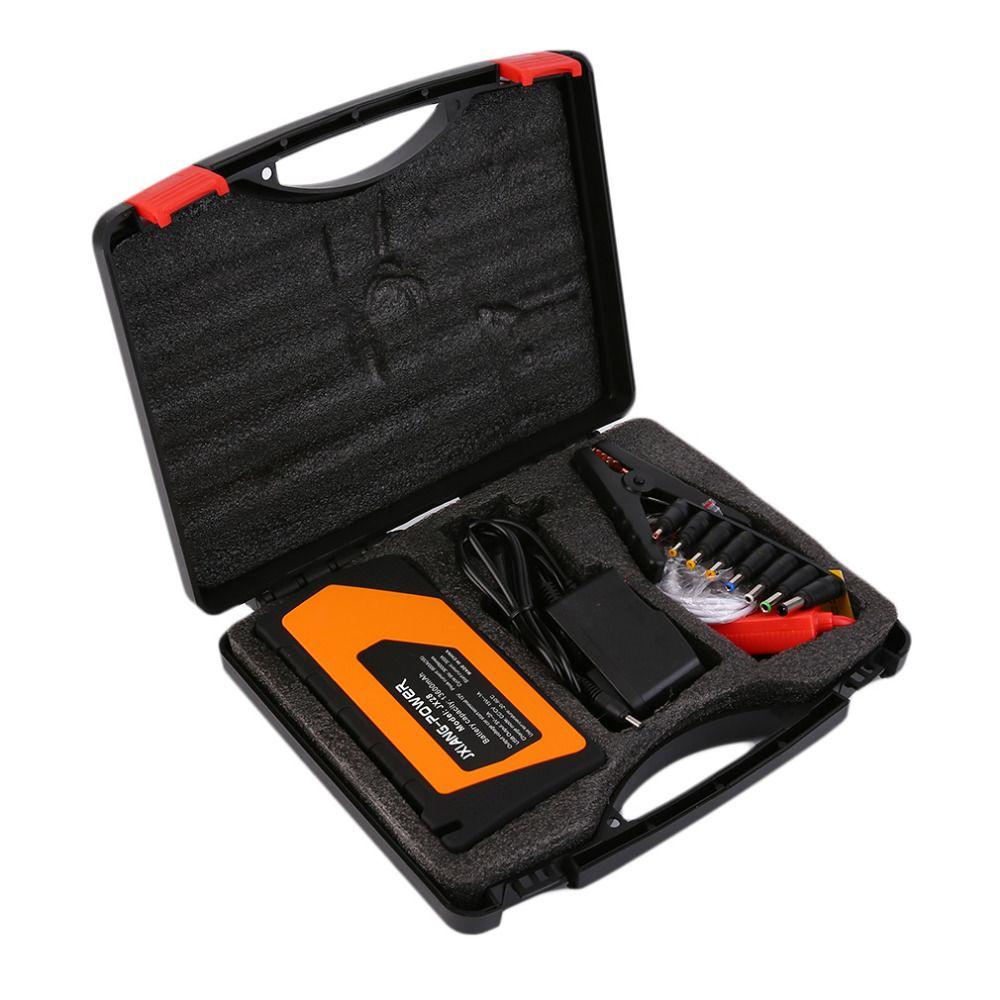 12V real 89800mah Multi-Function 1set Car Charger Battery Jump Starter 4USB LED Light Auto Emergency Mobile Power Bank Tool Kit