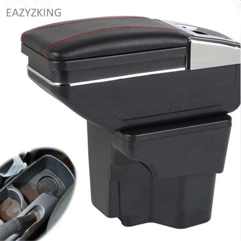 7 поколения автомобиль Подлокотник центральной консоли коробка для хранения автомобильные аксессуары чехол для Kia Rio K2 2011-2016