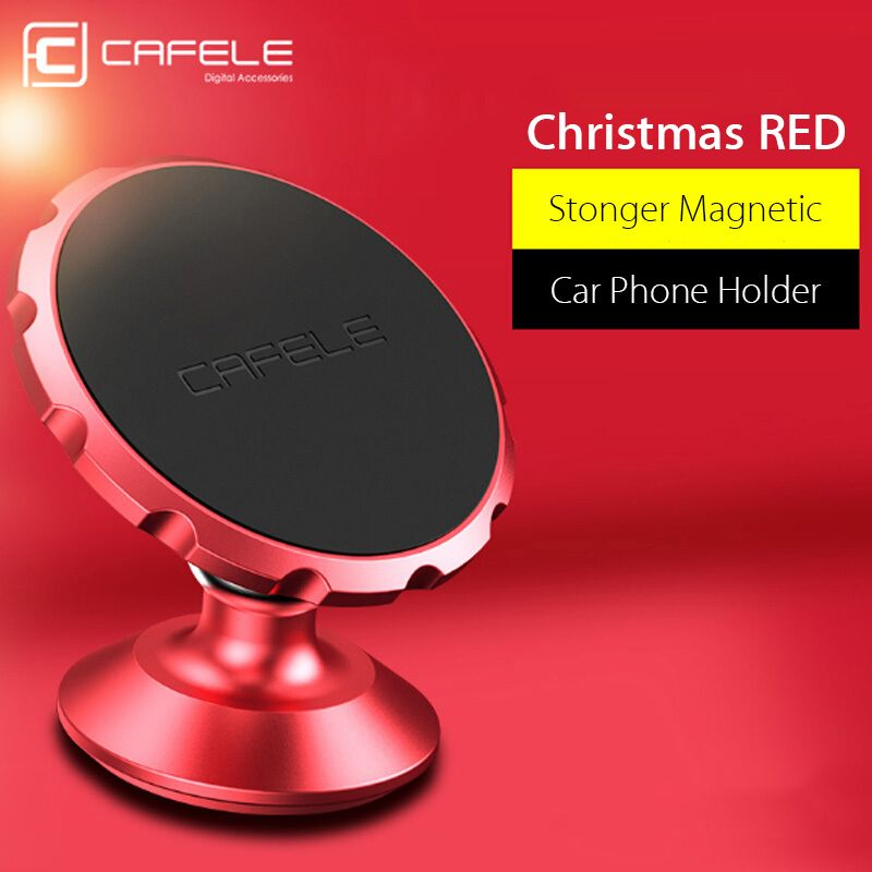 Cafele Magnetic Car Phone Holder 360 Degree Rotation Aluminum Alloy Magnet Car Mount Holder for iPhone Samsung Xiaomi