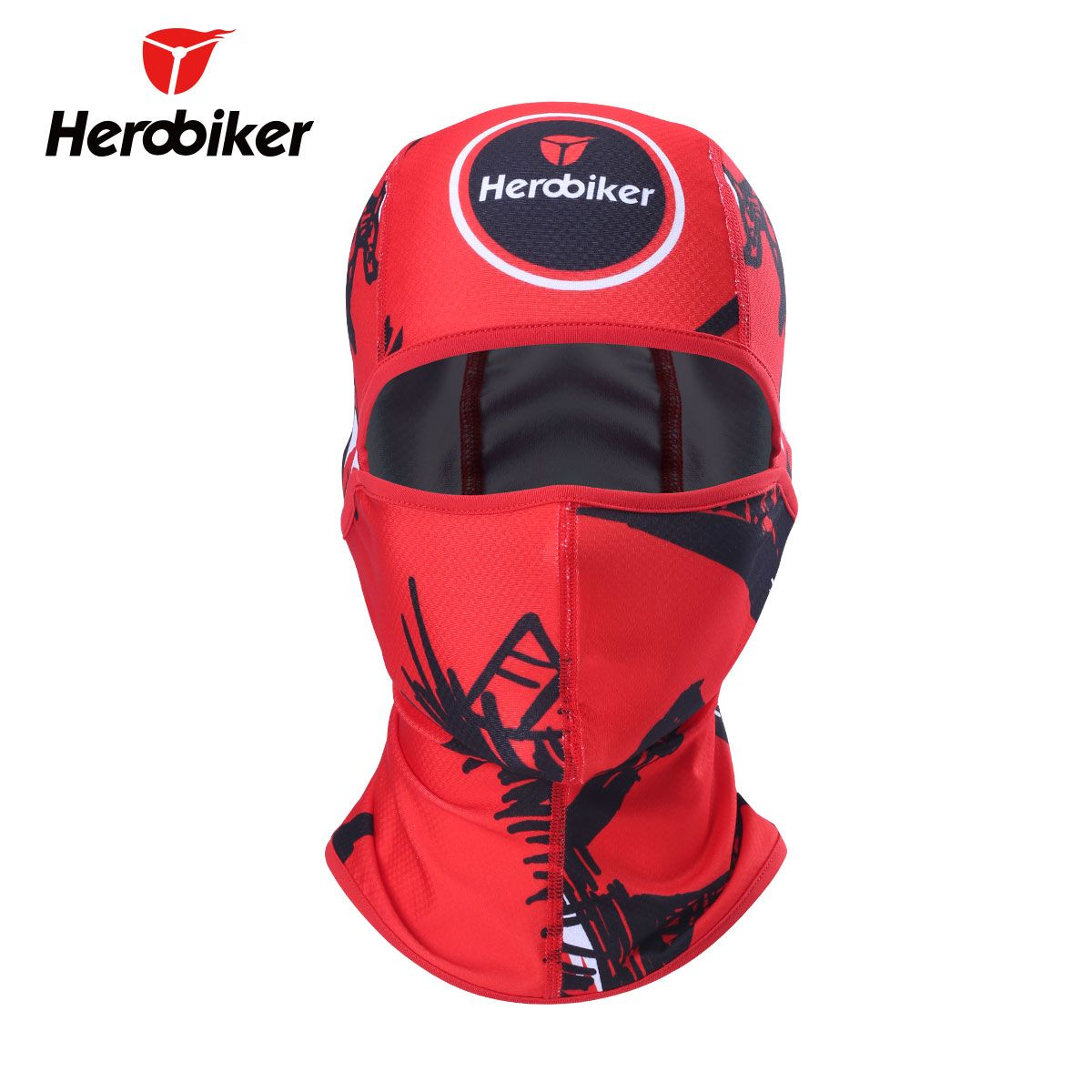 HEROBIKER Motorcycle Balaclava Face Mask Sun-protection Moto Balaclava Tactical Face Mask Headscarf Headgear