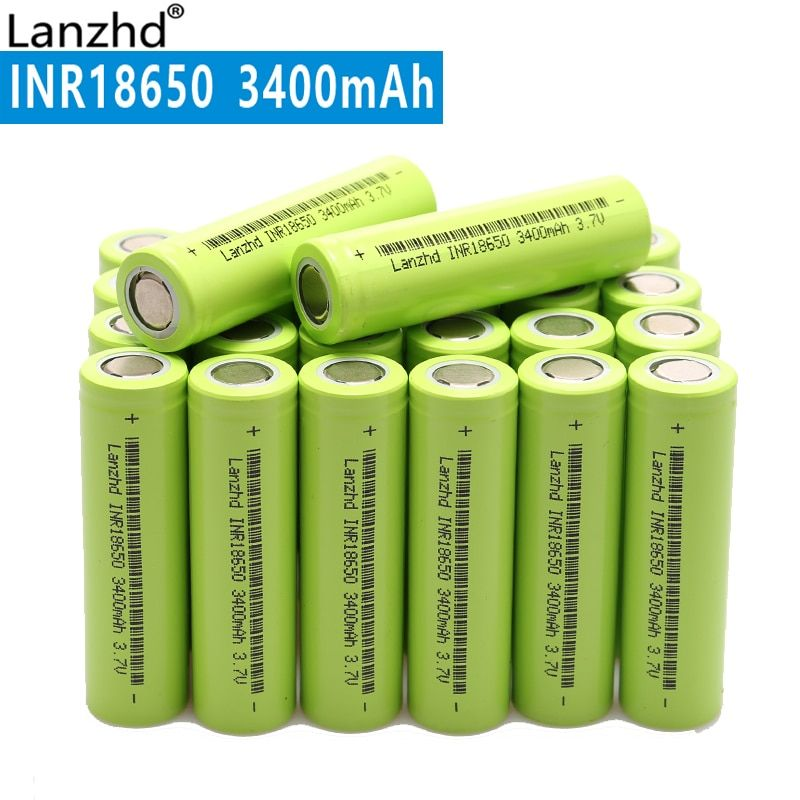 NEW 18650 3.7V 3400mAh Original INR18650 rechargeable li-ion 30a large current Battery For Laptop mobile power notebook (10-40)