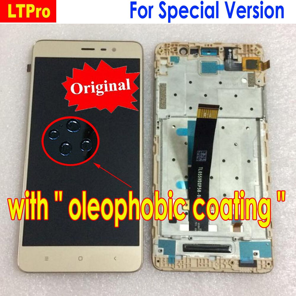 LTPro Original LCD Display Touch Screen Digitizer Assembly + frame For Xiaomi Redmi Note 3 Pro Special Version Edition SE 152mm