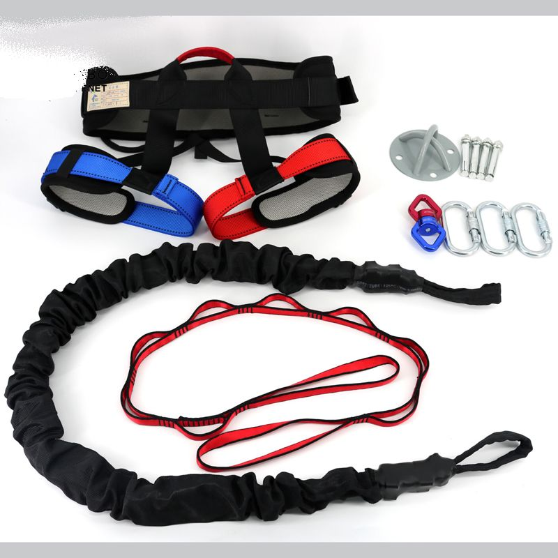 High Quality Pilates Suspension Elastic Sling Practice Pull Rope Bungee Workout Trainer Cord Resistance Hanging Training Straps