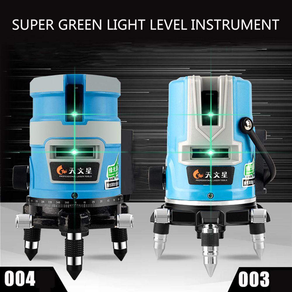 5 lignes 3D Vert Niveau Laser Niveau Détecteur Nivel 2/3 ligne Lasers 360 Autonivelante Instrument Lazer Mètre Pour outil de Construction