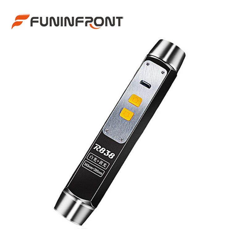 Lampe de poche LED d'évaluation de gemme de Jade d'expert de lumière LED UV Rechargeable d'usb 365nm 4 source lumineuse avec une lampe-torche
