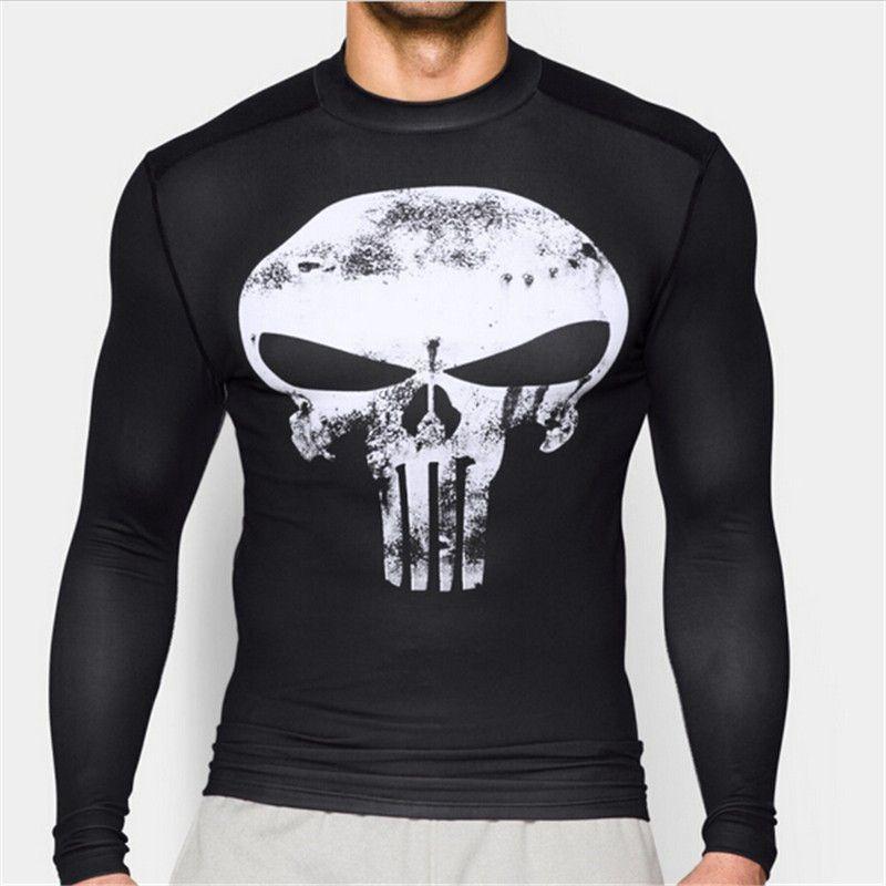 Impression 3D chaude super-héros Superman/Batman hommes à manches longues T-shirt collants de Compression hauts T-shirt de remise en forme