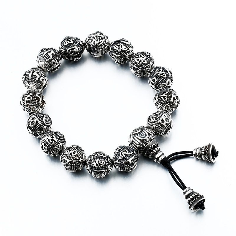 Steel soldier chinese style classic buddha sutra bracelet stainless steel good detail and high quality men jewelry come luck