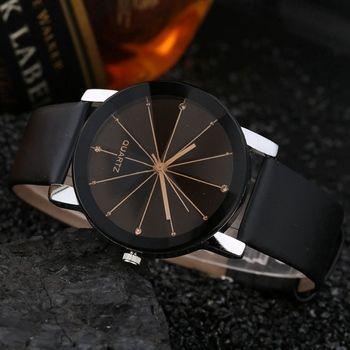 Mode Montre Hommes Marque De Luxe Unisexe Populaire Femmes Montres À Quartz En Acier Inoxydable Cadran En Cuir Bande Montre-Bracelet Horloge Cadeau