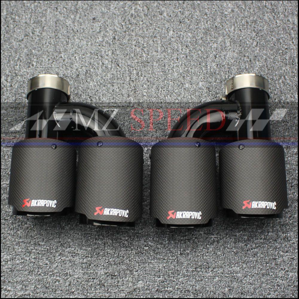 Auto auspuffrohr H Modell Akrapovic Carbon Abgase Dual Ende Tipps für BMW BENZ AUDI VW Auspuff Dual Schalldämpfer Rohre schwanz Tipps