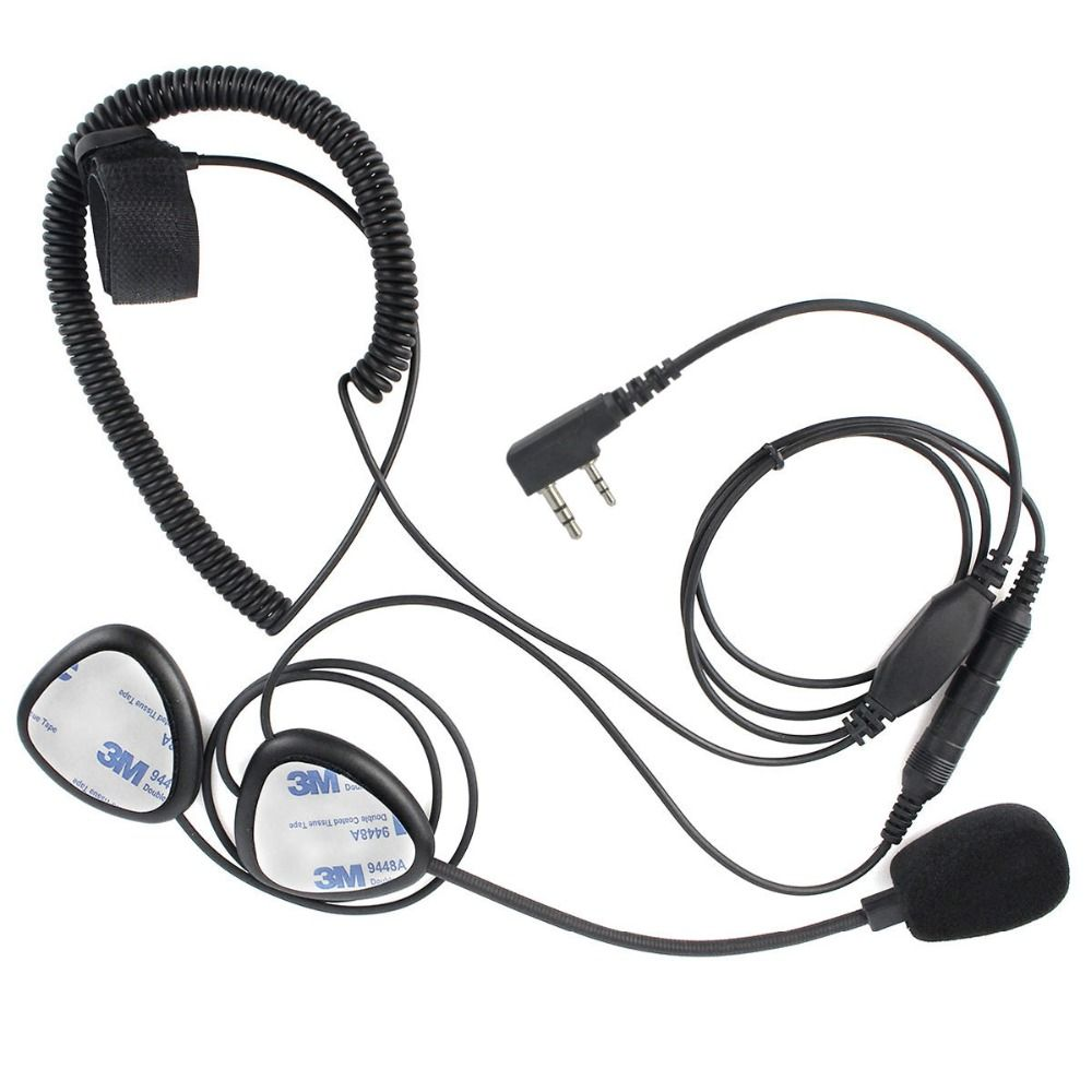 Upgrade Finger PTT Motorcycle Helmet Headset MIC for KENWOOD TYT BAOFENG UV-5R RETEVIS H777 PUXING Walkie Talkie C2242A