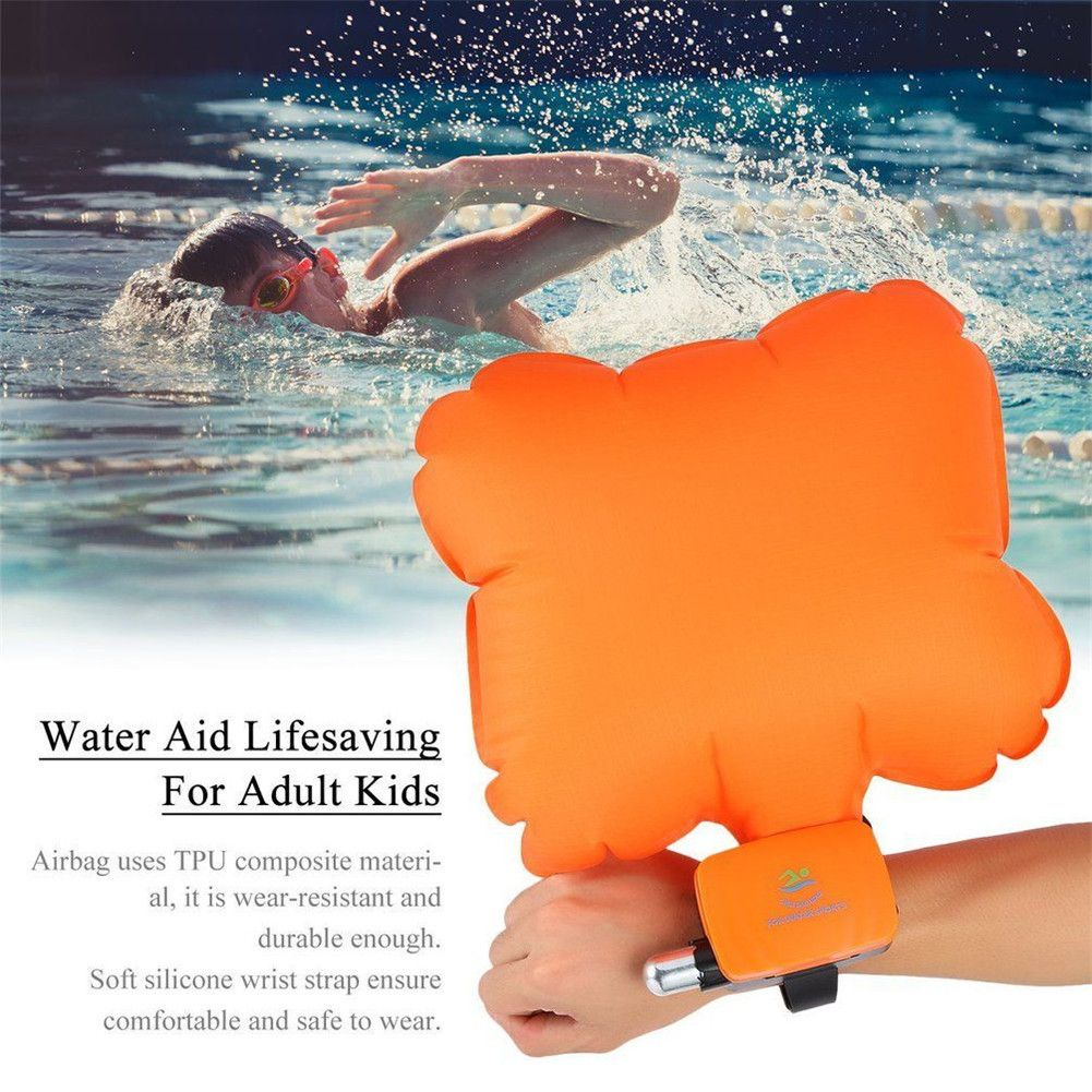 Anti Drowning Portable Lifesaving Bracelet Float Wristband With Co2 Cylinder <font><b>Inflatable</b></font> Bladder Outdoor Swim Surf Self Rescue