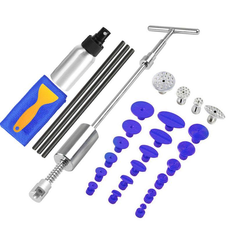 PDR outils sans peinture Dent réparation Dent extracteur Kit Dent enlèvement glisser marteau colle bâtons inverse marteau colle onglets grêle dommages + cadeau