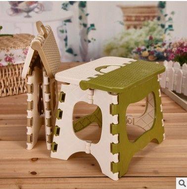 2016 New Step Folding Stool Children Stool Portable Picnic Thicken Plastic Fold Home Furniture Random Color Pouf