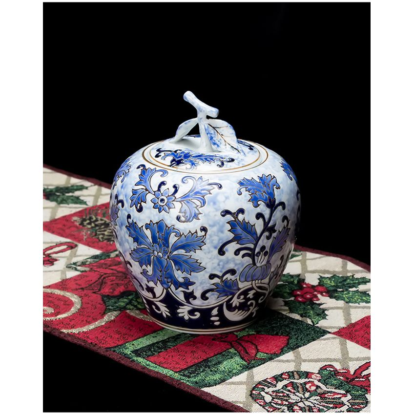 Style chinois Jingdezhen bouteilles en céramique anti-poussière couvercle de stockage pot dessert bonbons pots thé caddy vase morden maison mariage décor