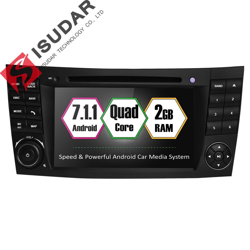 Isudar Car Multimedia player Android 7.1.1 GPS 2 Din DVD Automotivo For Mercedes/Benz/E-Class/W211/E200/E300/E350 4 Cores Radio