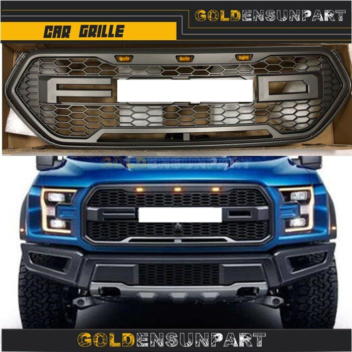 Style Edge Grill Front For Ford 2017 2016 2015 Mesh Bumper Grille Raptor Upper