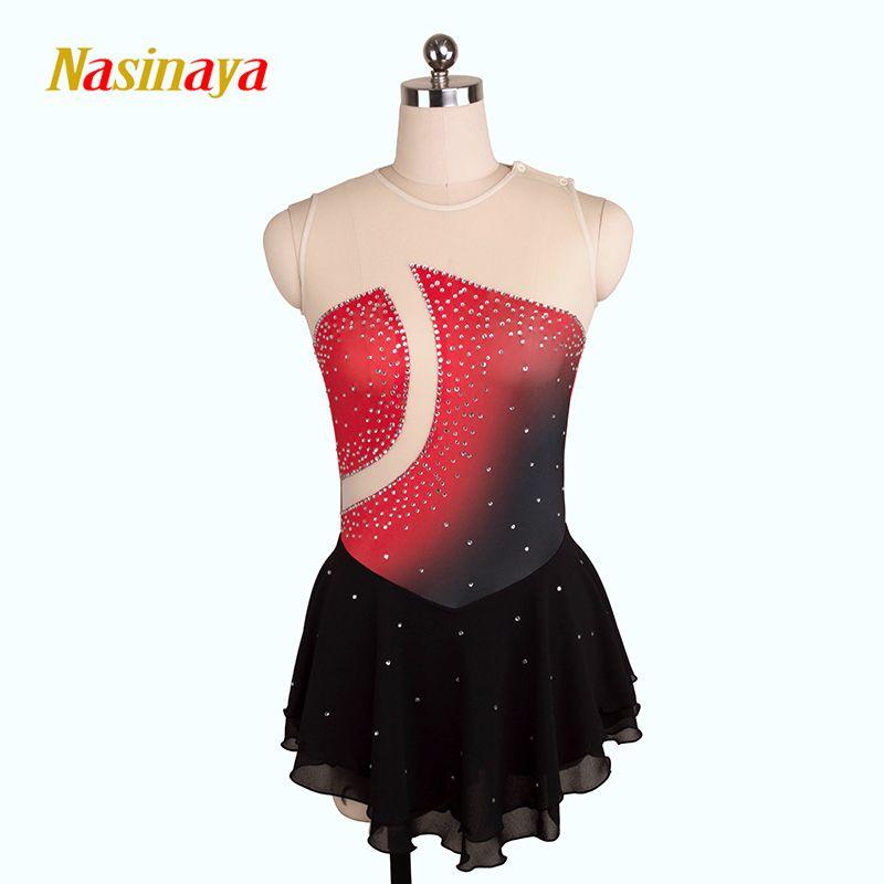 Nasinaya Eiskunstlauf Kleid Customized Wettbewerb Eislaufen Rock für Mädchen Frauen Kinder Patinaje Gymnastik Leistung 207