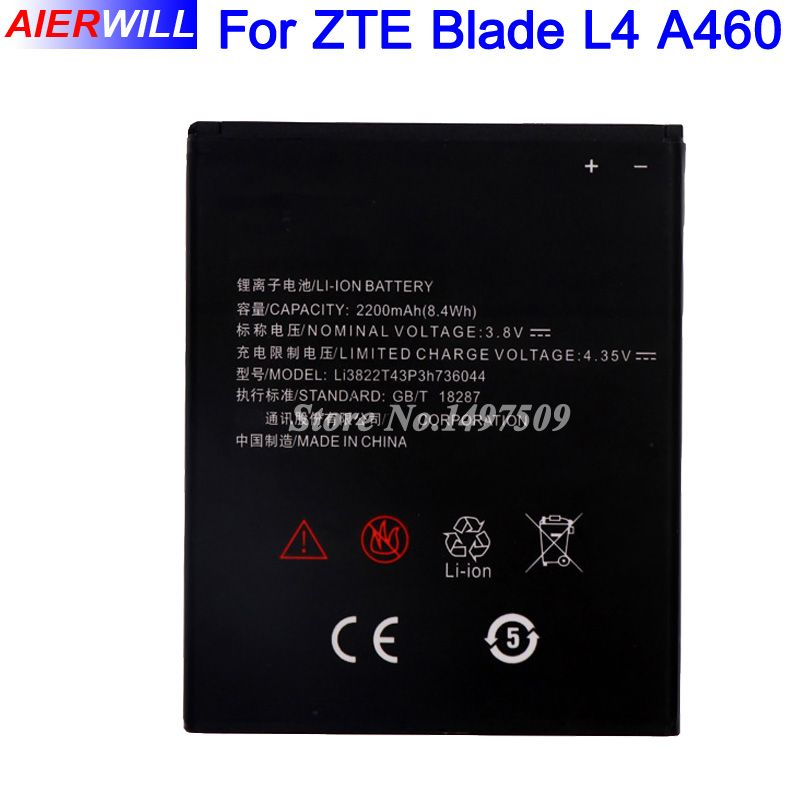 2200mAh Li3822T43P3h736044 Battery for ZTE Blade L4 A460 High Quality