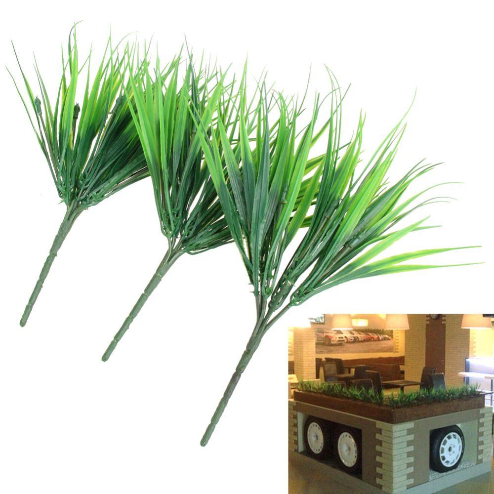 10 Pcs/lot plantes vertes artificielles 7 fourche Simulation en plastique herbe fraîche pour Aquarium poissons réservoir décoration fournitures aquatiques