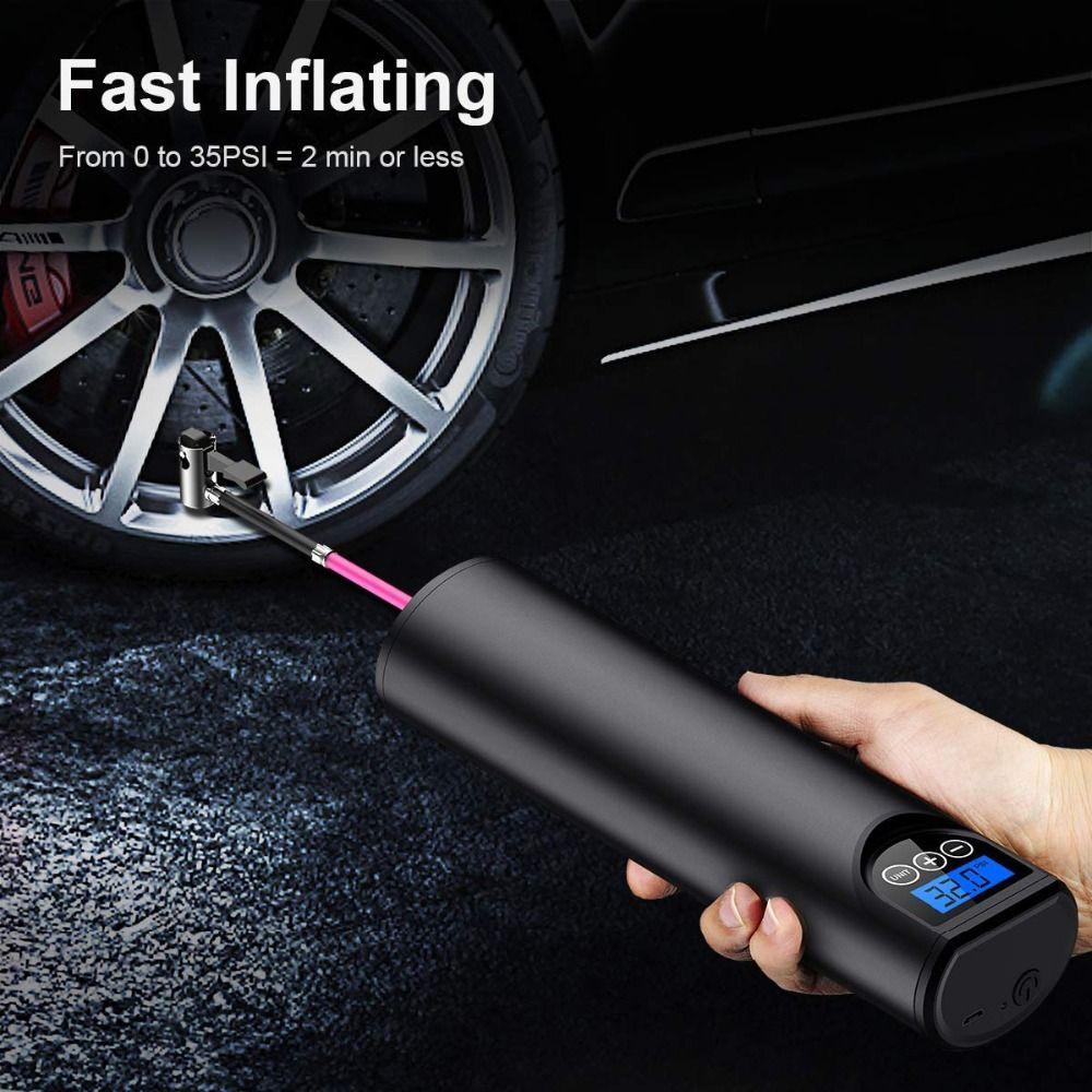 Gonfleur de pneu sans fil Portable compresseur numérique voiture pneu pompe 12V 150PSI Rechargeable pompe à Air pour voiture vélo pneus balles