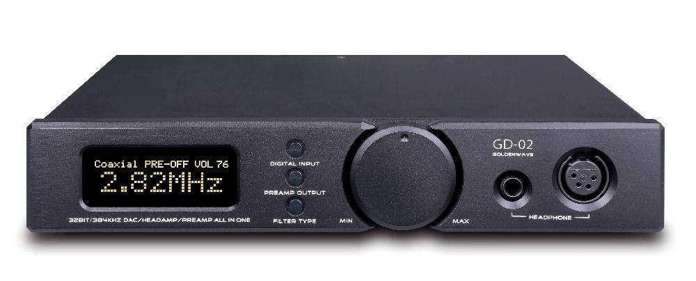 GoldenWave GD02 GD-02 ES9038PRO DAC Kopfhörer Verstärker PC CAS HIFI UBS KOXIALE IIS Ausgewogene XLR RCA Line Out Preamp Vorverstärker