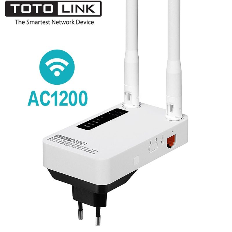 TOTOLINK EX1200M AC1200 Dual Band Wi-Fi Range Extender Stable Wireless Repeater, 2.4G/5.0GHz WiFi Extender/AP Mode, Easy Setup