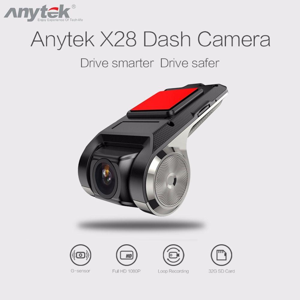 Anytek X28 Mini Car DVR DVRs Camera Full HD 1080P Auto Digital Video Recorder Camcorder ADAS G-sensor 150 Degree Dash Cam