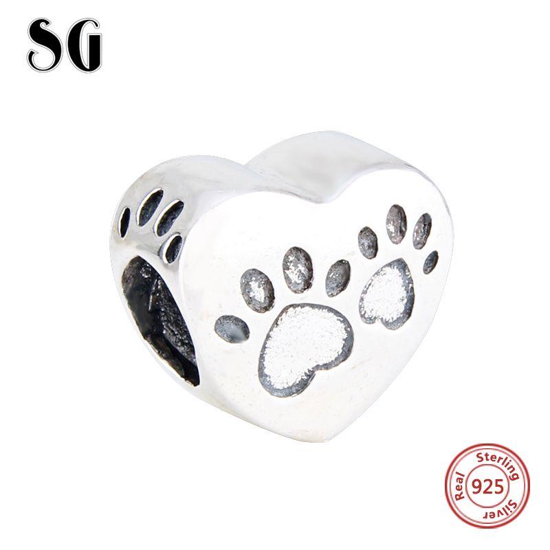 Nouveauté D'origine Mignon chien doux animal Charmes pendentif en argent Perles Fit Charms argent 925 perles bijoux tendance faire