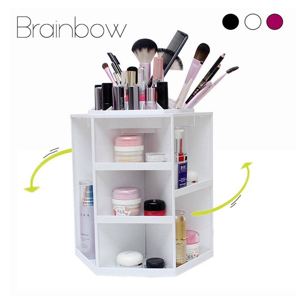 Brainbow 360 Grad Rotierenden Make-Up Organizer Multifunktions Schmuck Kosmetik Lippenstift Pinsel Make Up Organizer Kunststoff Lagerung