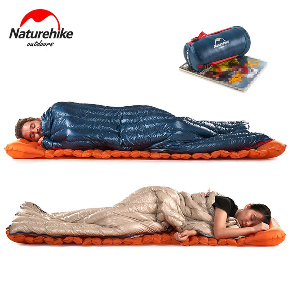 Naturehike Waterproof Thicken Goose Down Sleeping Bag Ultra Light Outdoor Hiking Camping Envelope Sleed Bag For Single Person