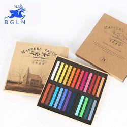 Marie de Peinture Crayons Doux Pastel Sec 12/24/36/48 Couleurs/Set Art Dessin Ensemble craie Couleur Crayon Brosse Papeterie pour Les Étudiants