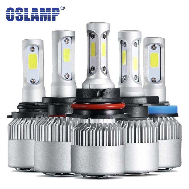 Oslamp 3 Puces Salut-Lo Faisceau 9007 H4 phare LED 72 W 8000LM 2 Puces pour H3 H1 H7 LED Voiture Ampoules LED H11 Voiture Lampes 9012 9005 9006