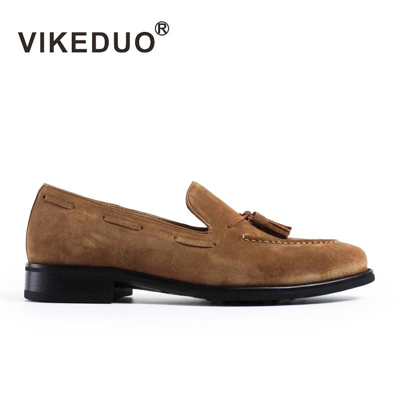 VIKEDUO Sommer Casual Müßiggänger Schuhe Männer 2019 Wildleder Handgemachten männer Schuhe Quaste Hochzeit Büro Mode Sapato Heiße Schuhe Zapato