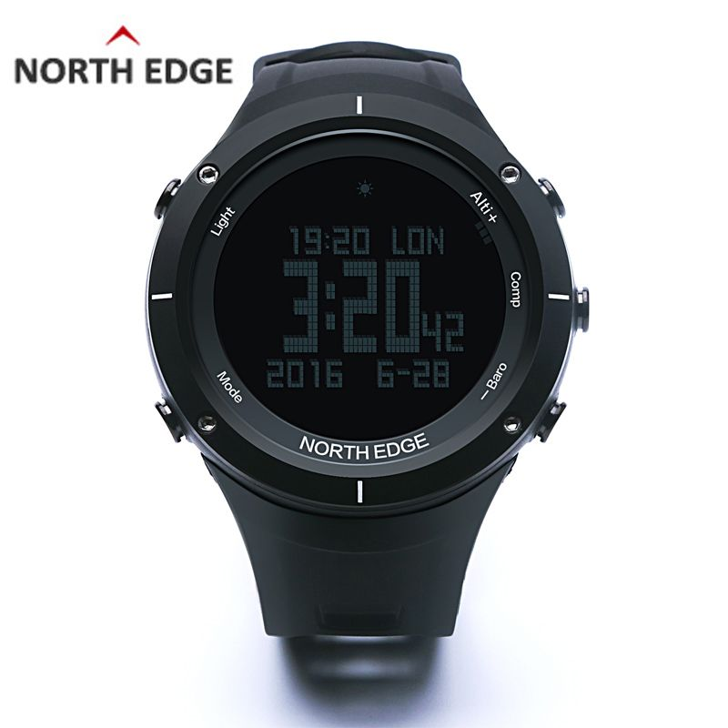 NORTH EDGE Men's Sport Digital Watch Running Swimming Altimeter Barometer Compass Thermometer Weather Pedometer Smart Watches