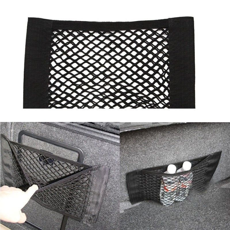 Car Accessories Styling New Car Back Rear Trunk Seat Elastic String Net Mesh Storage Bag Pocket Cage