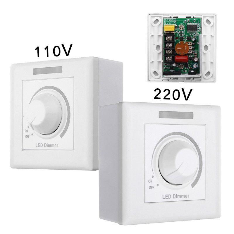 Max 150 Вт Стены Диммер LED диммер с 12 Ключи ИК-Дистанционное управление для затемнения свет лампы 110 В /220 В
